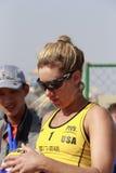USA team april ross häften för åhörarna Royaltyfri Bild