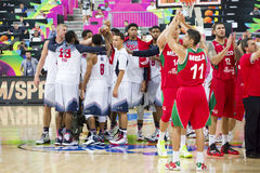 USA Team celebrating the victory Royalty Free Stock Images