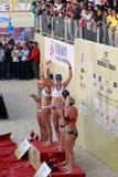 Usa team ross & walsh won the women's champion Royalty Free Stock Photo