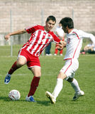 USA team vs IRAN team, youth soccer Royalty Free Stock Photos