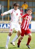 USA team vs IRAN team, youth soccer Stock Image