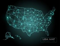 USA technology map black and green color royalty free illustration
