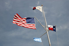 USA and Texas state flags Stock Images