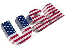 USA Text Royalty Free Stock Photos