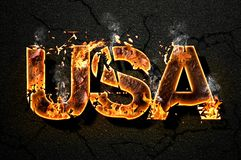 USA text Stock Photography