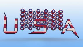 Usa text animation stock footage
