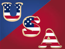 Usa text Royalty Free Stock Photo