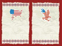 USA textured backgrounds. Stock Photo