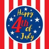 USA 4th juli Fotografering för Bildbyråer