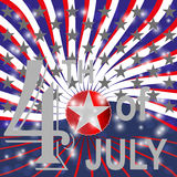 USA 4th july background. Stock Image