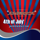 USA 4th july background. Stock Images