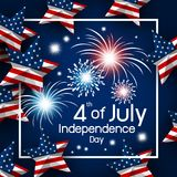 USA 4th of july happy independence day. Vector illustration Royalty Free Stock Photography