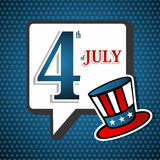 USA 4th July Unlce Sam background Royalty Free Stock Photos