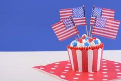 USA theme cupcake Royalty Free Stock Images