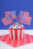USA theme cupcake Royalty Free Stock Photo