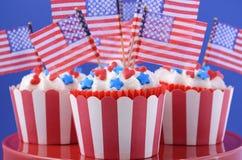 USA theme cupcakes Royalty Free Stock Image