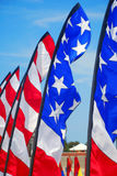 USA Theme Flags Stock Photo