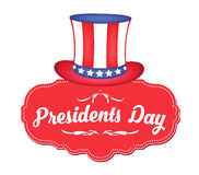 USA Theme Happy Presidents Day Greeting Banner Royalty Free Stock Image