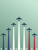 USA themed airplanes poster Royalty Free Stock Photography