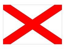 USA tillståndsflagga av Alabama royaltyfri illustrationer