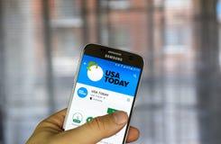 USA Today androidu zastosowanie Fotografia Royalty Free