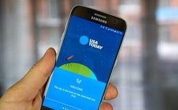 USA Today androidu zastosowanie Zdjęcie Stock