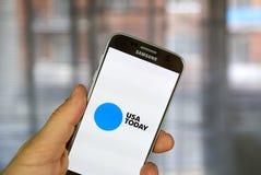 USA Today androidu zastosowanie Fotografia Stock
