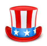 Usa top hat for independence day Stock Photography