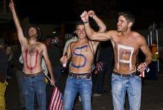 USA-toplesse Fußball-Verfechter - FIFA-WC 2010 Stockbilder