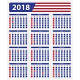 USA tragen 2018, gesetzliche Feiertage ein Lizenzfreie Stockfotos