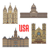 USA travel landmarks icon of Utah architecture Stock Photography