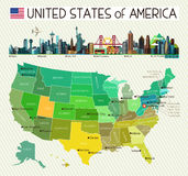 USA Travel Map. Stock Photography