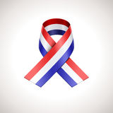 USA Tricolor Ribbon Stock Images