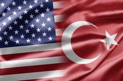 USA and Turkey royalty free illustration