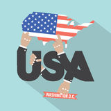 USA Typography Design Royalty Free Stock Photos
