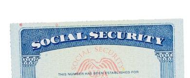 USA ubezpieczenia społecznego karta odizolowywająca przeciw bielowi fotografia stock