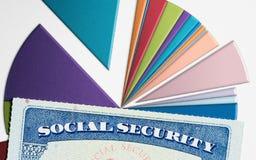 USA ubezpieczenia społecznego karta na wykresach dochód dla emerytura Zdjęcia Royalty Free