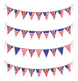 Usa and uk bunting Royalty Free Stock Photos