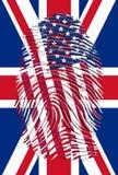 USA UK fingeravtryck Arkivfoton