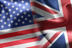 USA an UK flags Stock Photos