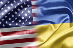 USA and Ukraine Stock Photo