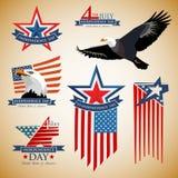 USA-Unabhängigkeitstag am 4. Juli Stock Abbildung