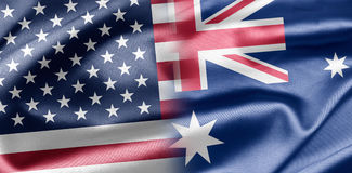 USA und Australien Stockfotos