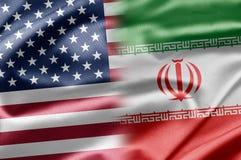 USA und der Iran Lizenzfreies Stockbild