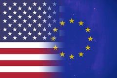 USA und Europäische Gemeinschaft Lizenzfreie Stockfotografie