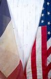 USA und Frankreich-Flagge Lizenzfreie Stockbilder