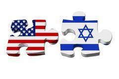 USA und Israel, die zusammenarbeiten stock abbildung