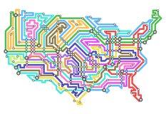 USA underground Royalty Free Stock Image