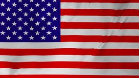 USA United States of America flag animation 2 in 1. USA United States of America flag seamless looping animation stock video footage