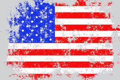 USA,United States of America grunge, old, scratched style flag Stock Images